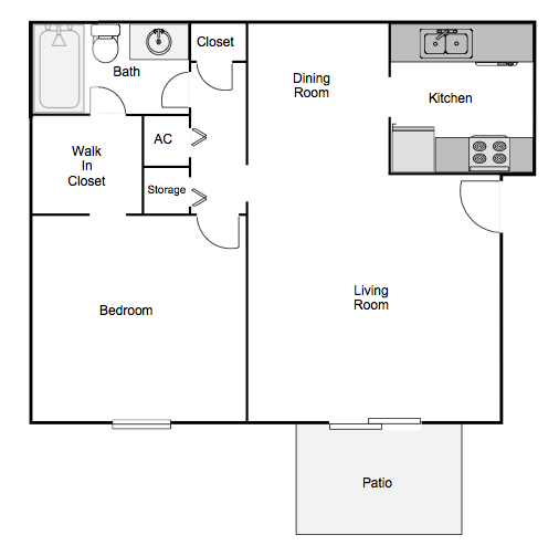 Autumn Chase spacious One Bedroom One Bath Apartment Home Mobile, AL 36695