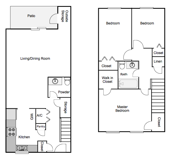 Autumn Chase spacious Three Bedroom 1.5 Bath Apartment Home Mobile, AL 36695