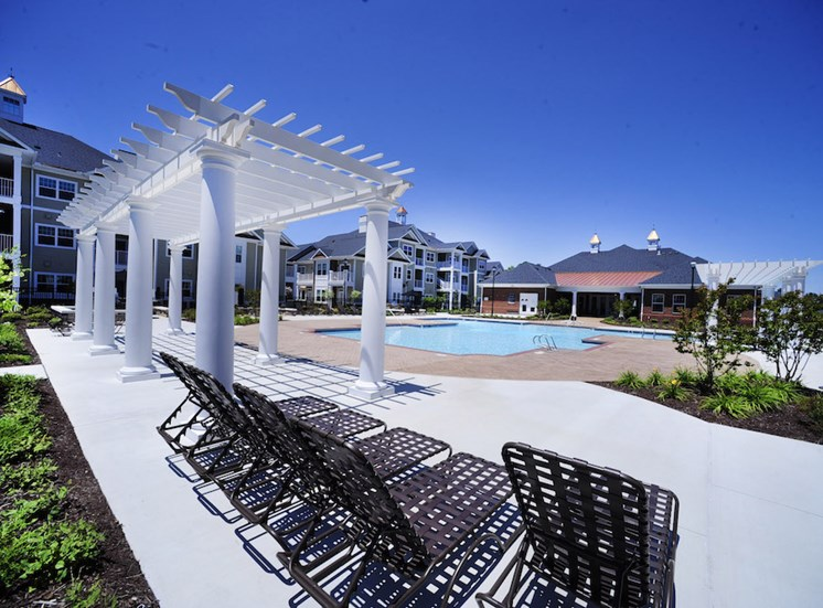 Fenwyck Manor Apartment Homes Chesapeake, Greenbrier VA 23320 pool aqua deck and pergola