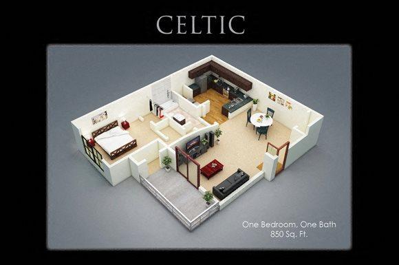Fenwyck Manor Apartments Chesapeake, VA 23320 celtic floor plan