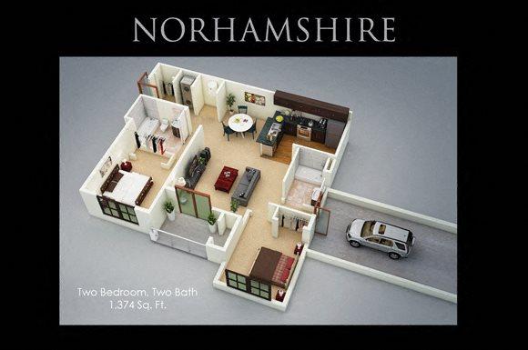 Fenwyck Manor Apartments Chesapeake, VA 23320 norhamshire floor plan