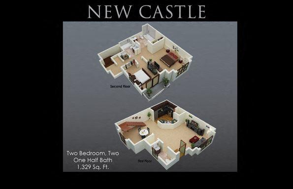 NewCastle Floor Plan at Fenwyck Manor Apartments, Chesapeake, VA, 23320