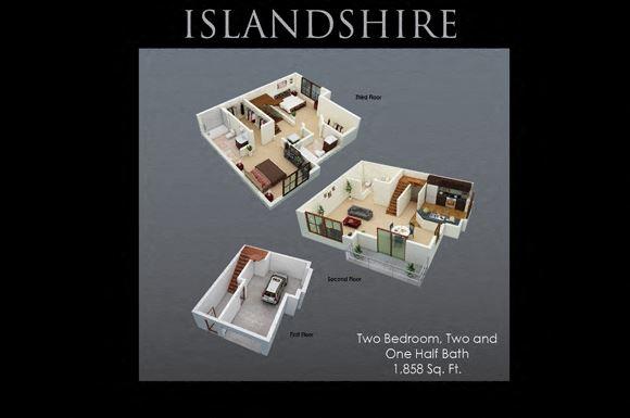 Islandshire Floor Plan at Fenwyck Manor Apartments, Chesapeake, VA