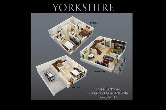 Yorkshire Floor Plan at Fenwyck Manor Apartments, Chesapeake, 23320