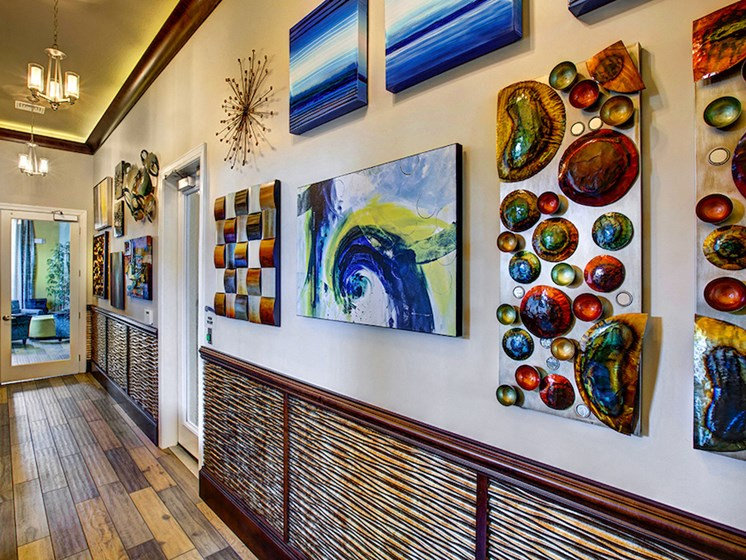 Lake Nona Water Mark Apartments in Lake Nona in ORLANDO, FL 32827 gorgeous artwork and decor
