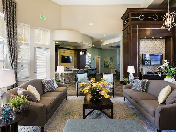 Lake Nona Water Mark Apartments in Lake Nona in ORLANDO, FL 32827 resident lounge