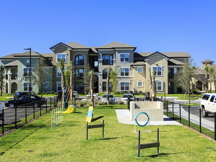 Lake Nona Water Mark Apartments in Lake Nona in ORLANDO, FL 32827 dog park with agility course