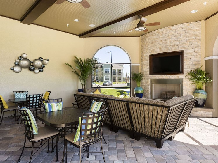 Lake Nona Water Mark Apartments in Lake Nona in ORLANDO, FL 32827 community veranda