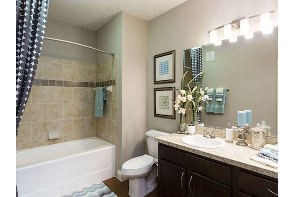 Lake Nona Water Mark Apartments in Lake Nona in ORLANDO, FL 32827 bathrooms with large tubs and tile surrounds