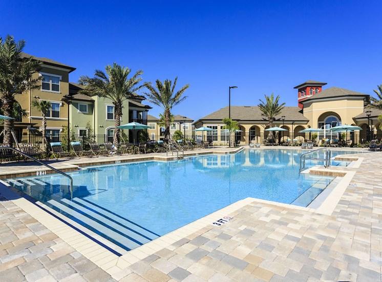 Lake Nona Water Mark Apartments in Lake Nona in ORLANDO, FL 32827 stunning resort inspired beach-style pool