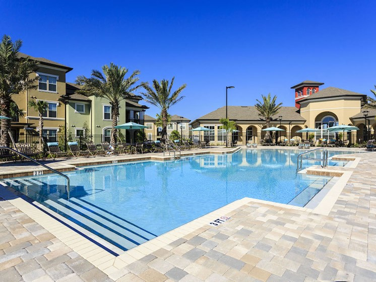 Lake Nona Water Mark Apartments in Lake Nona in ORLANDO, FL 32827 stunning resort inspired beach-style pool