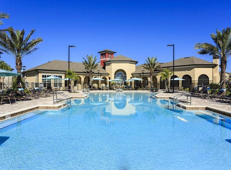 beach-inspired zero entry swimming pool