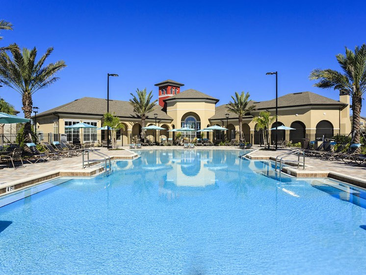 Lake Nona Water Mark Apartments in Lake Nona in ORLANDO, FL 32827 beach-inspired zero entry swimming pool