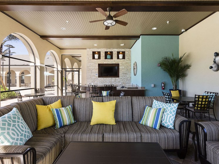 Lake Nona Water Mark Apartments in Lake Nona in ORLANDO, FL 32827 outdoor community living room