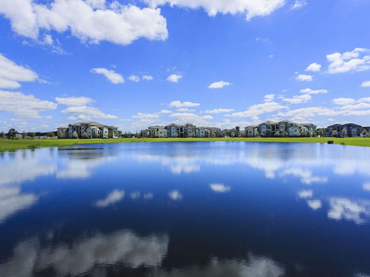 Lake Nona Water Mark Apartments in Lake Nona in ORLANDO, FL 32827 beautiful lake view community
