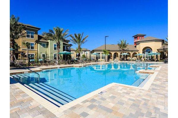 Lake Nona Water Mark Apartments in Lake Nona in ORLANDO, FL 32827 beach inspired zero entry pool