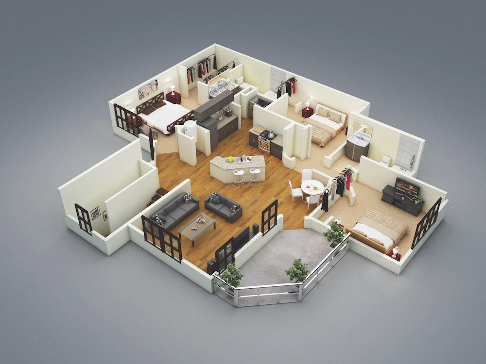 Lake Nona Water Mark Apartments in Lake Nona in ORLANDO, FL 32827 Atlantic Floor Plan