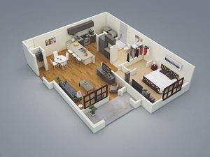 Lake Nona Water Mark Apartments in Lake Nona in ORLANDO, FL 32827 Captiva Floor Plan