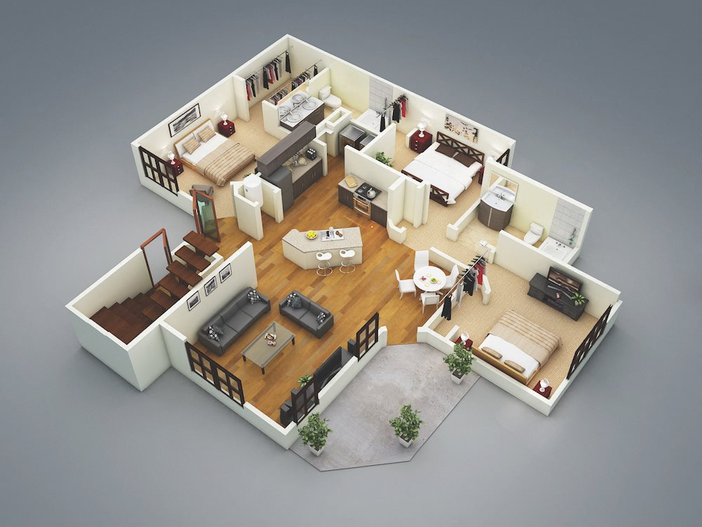 Lake Nona Water Mark Apartments in Lake Nona in ORLANDO, FL 32827 Clearwater Floor Plan