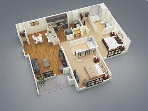 Lake Nona Water Mark Apartments in Lake Nona in ORLANDO, FL 32827 Sanibel Floor Plan