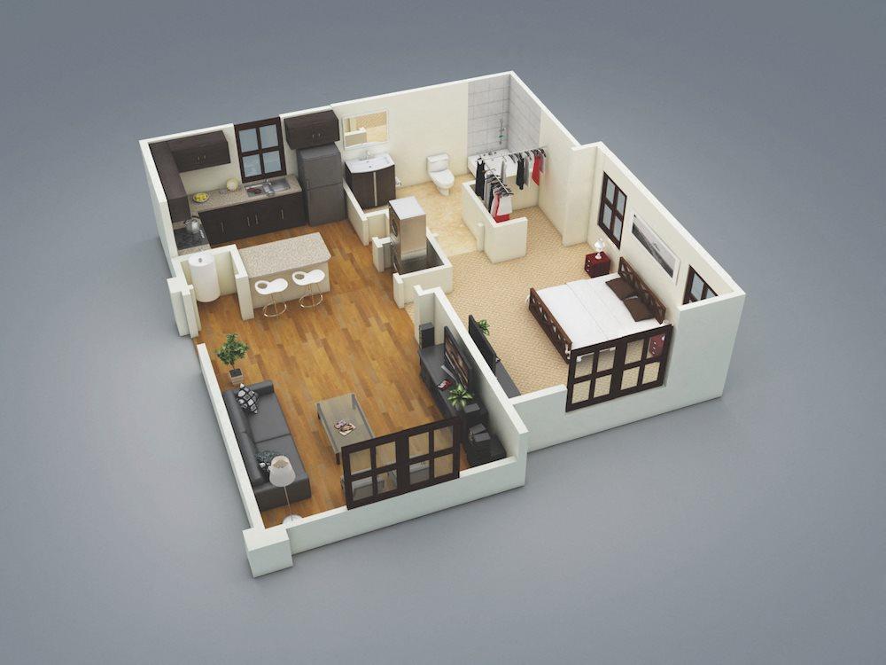 Lake Nona Water Mark Apartments in Lake Nona in ORLANDO, FL 32827 Siesta Key Floor Plan