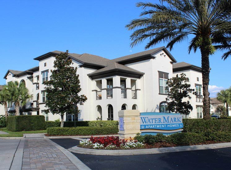 Entrance to Lake Nona Water Mark Apartments with Signage