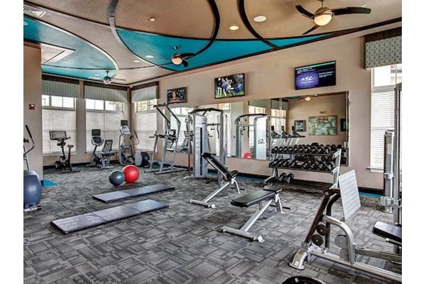 Lake Nona Water Mark Apartments in Lake Nona in ORLANDO, FL 32827 24 hour fitness center with cardio and strength training equipment