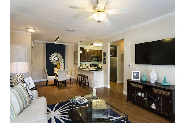 Lake Nona Water Mark Apartments in Lake Nona in ORLANDO, FL 32827 open kitchen living and dining area