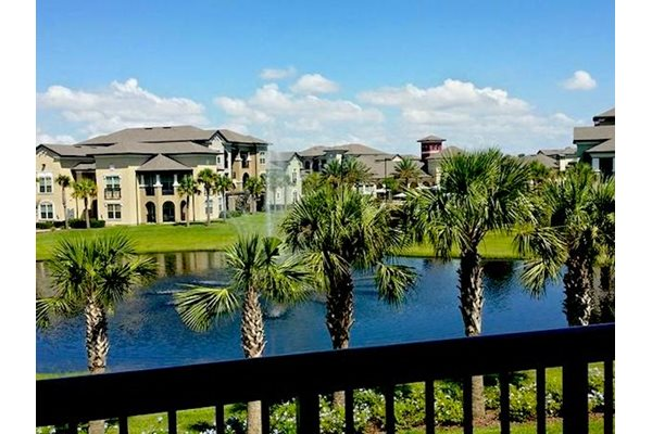 Lake Nona Water Mark Apartments in Lake Nona in ORLANDO, FL 32827 pool lake and forest views