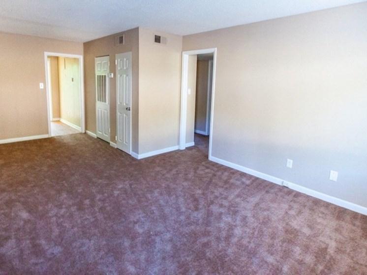 spacious apartment with plush carpet