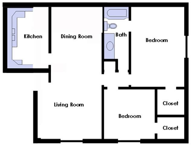 Two Bed Two Bath Premium