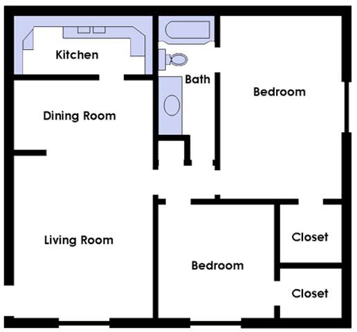Two Bed Two Bath Large Premium