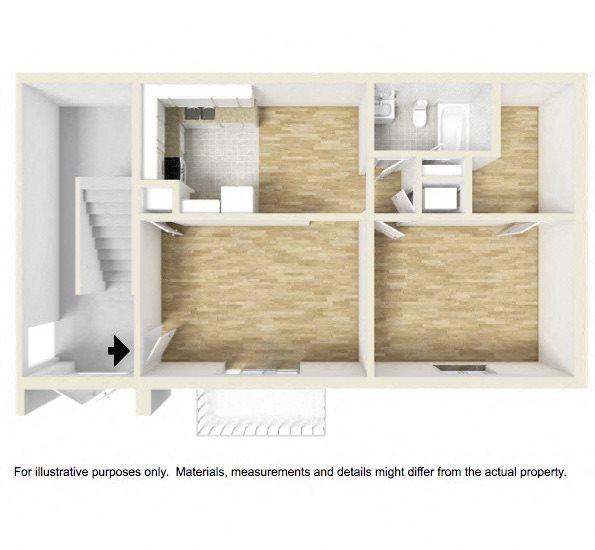 Shadowood Apartments Oxford, AL Anniston, AL 36207 1 bedroom 1 bathroom floor plan