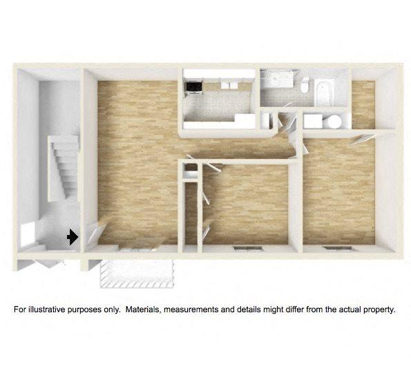 Shadowood Apartments Oxford, AL Anniston, AL 36207 2 bedroom 1 bathroom garden floor plan