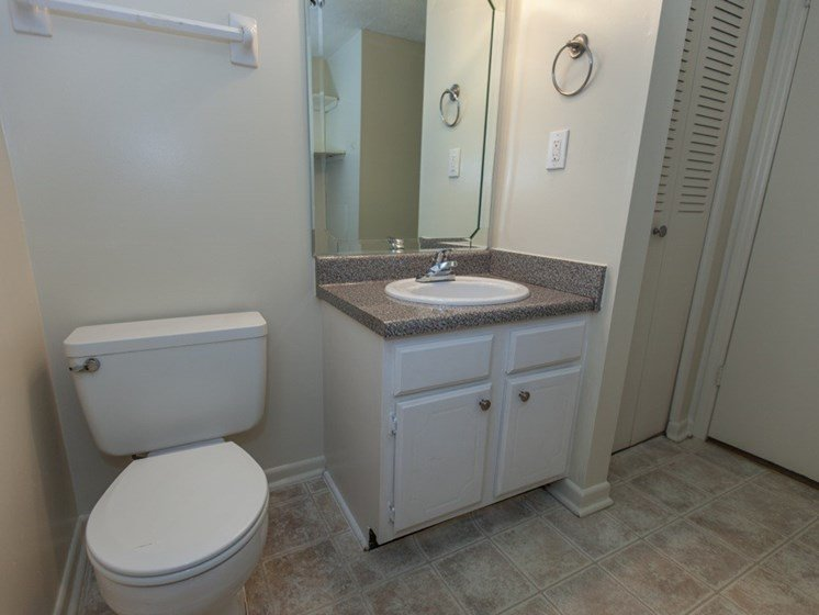 Shadowood Apartments Oxford, AL Anniston, AL 36207 bathroom with vinyl tile flooring