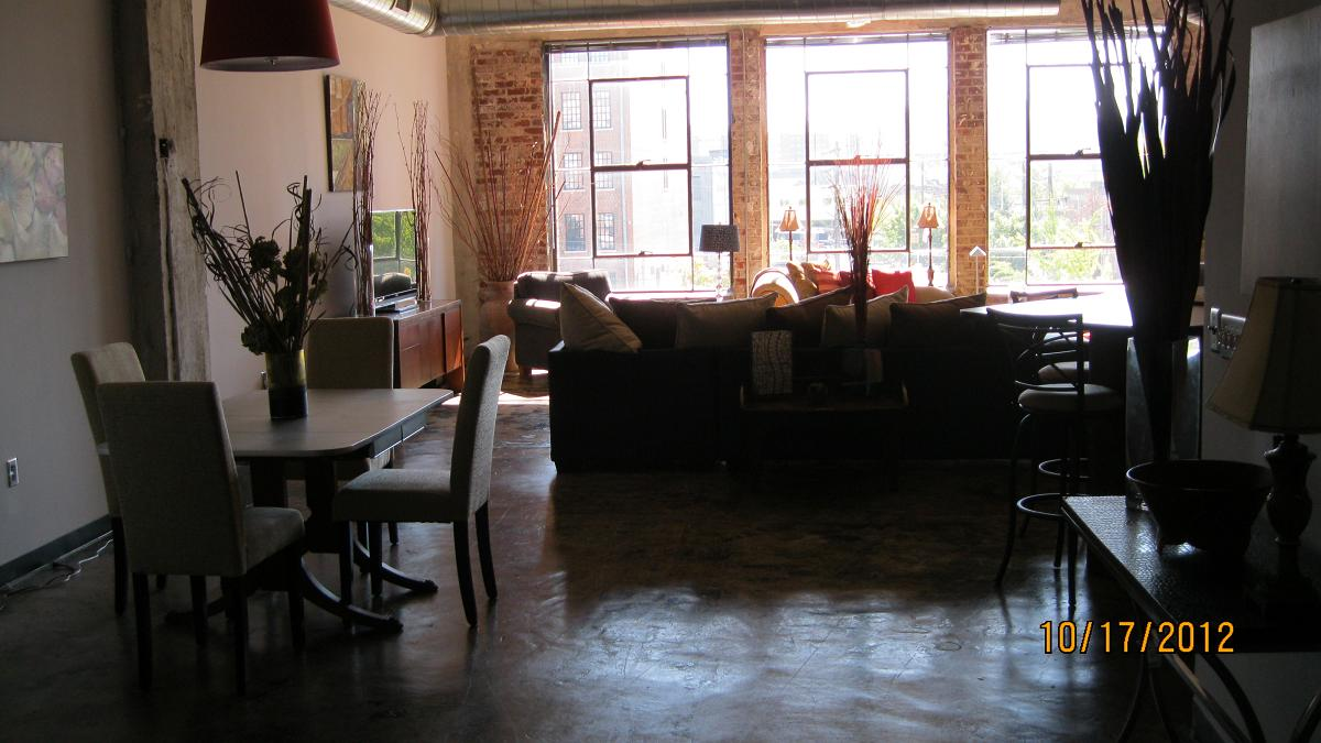 Lots of natural light in apartment homes at  Phoenix Lofts Birmingham, AL 35203