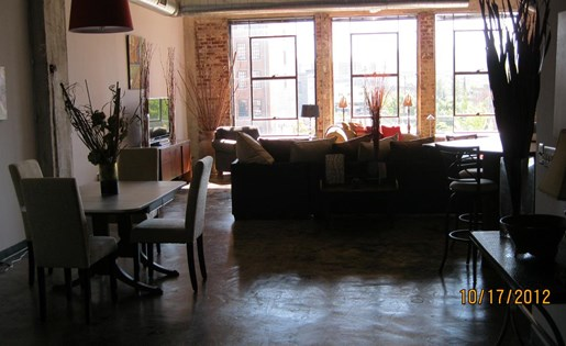 Lots of natural light in apartment homes at  Phoenix Lofts Birmingham, AL 35203