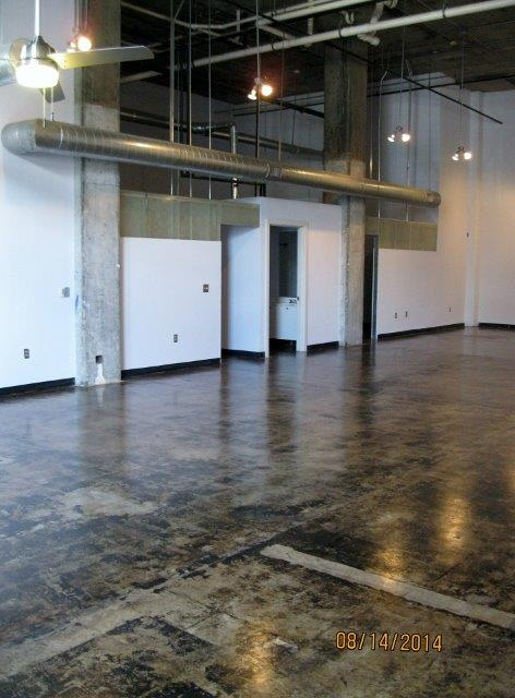 Polished concrete floors at  Phoenix Lofts Birmingham, AL 35203