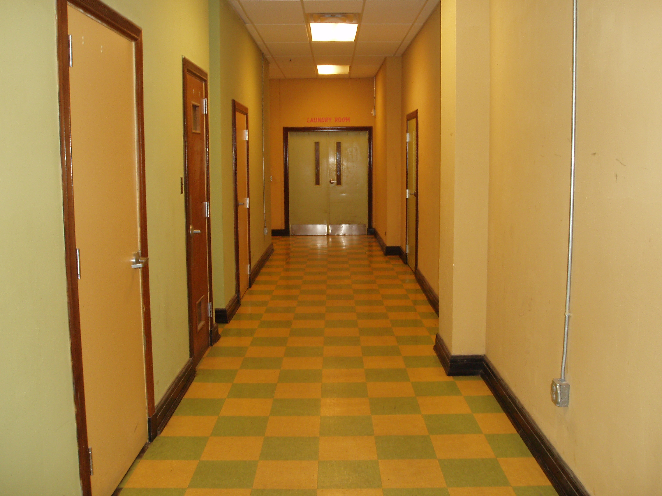 Retro style design hallways at Phoenix Lofts Birmingham, AL 35203