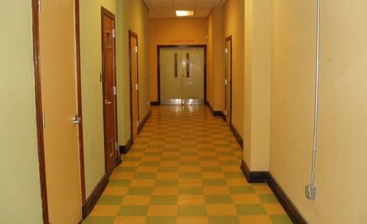 Retro style design hallways at Phoenix Lofts Birmingham, AL 35203