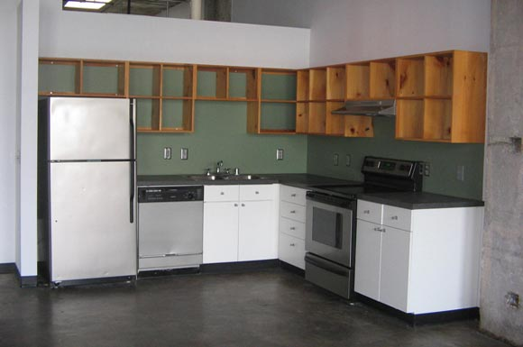 updated large kitchen at  Phoenix Lofts Birmingham, AL 35203