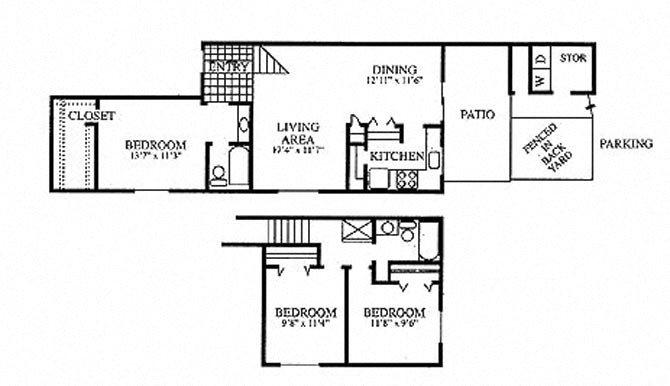 3 Bedroom Floor Plan 9
