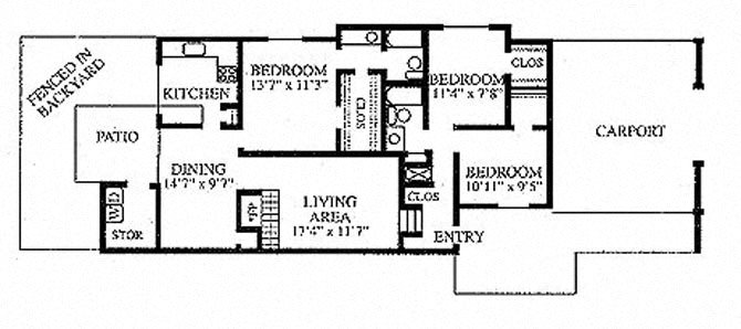 3 Bedroom Floor Plan 10