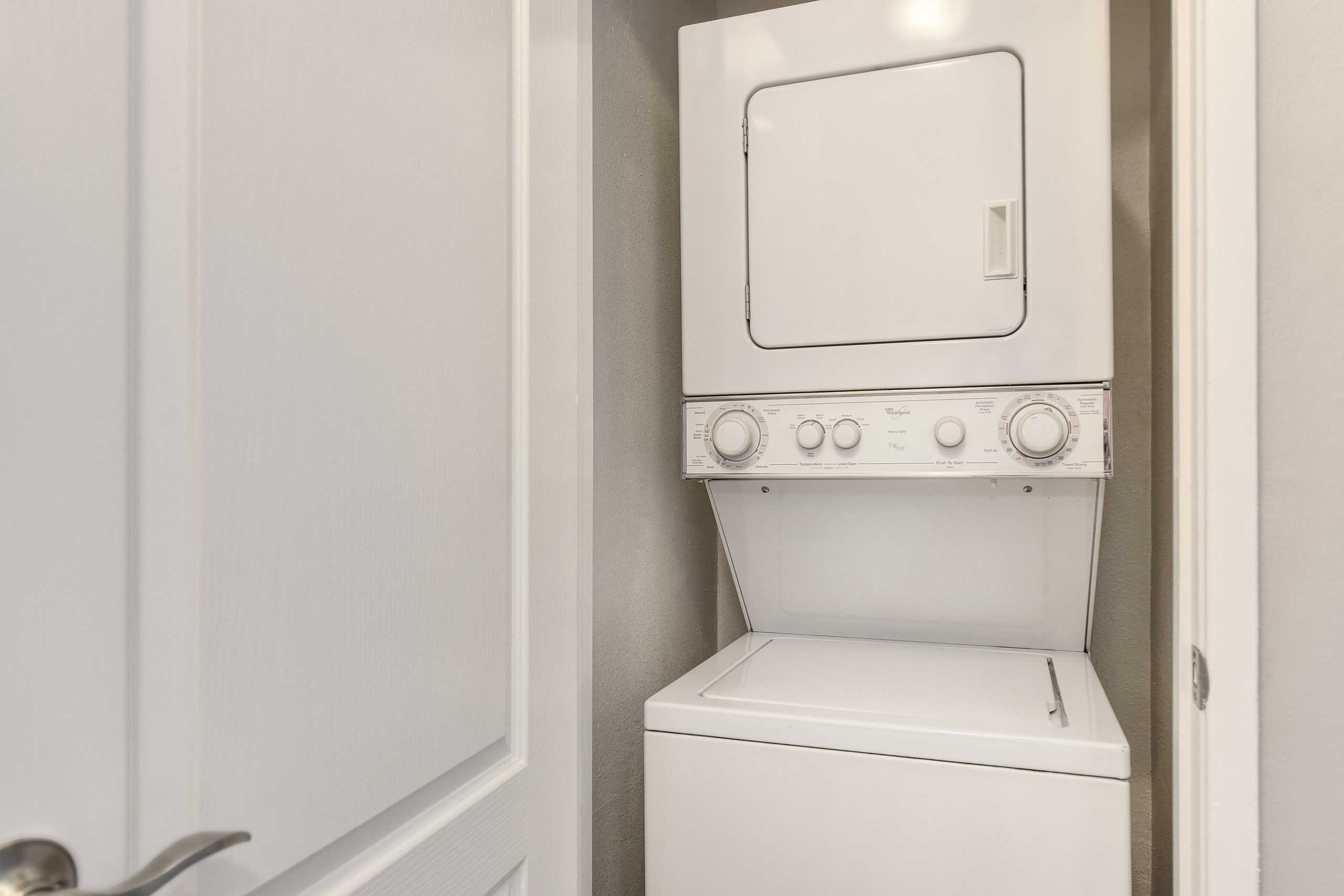 Laundry - Stackable Washer and Dryer