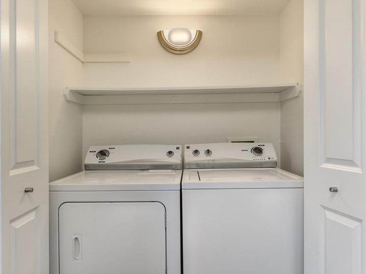 Two Bedroom Side by side Washer and Dryer