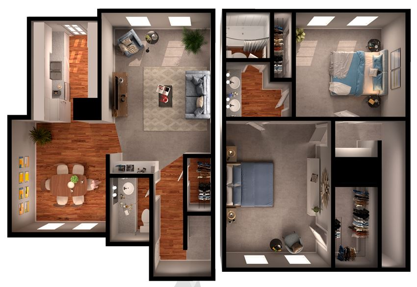 2 BR 1.5 bth Townhouse (gas)