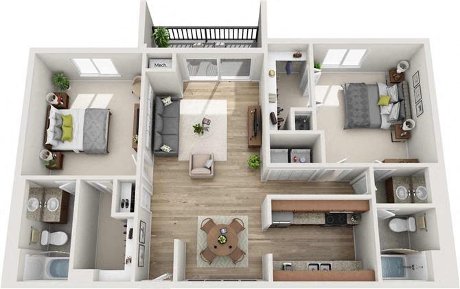 Buckhead Floor Plan at Atler at Brookhaven, Atlanta, 30319
