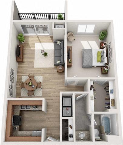 Paces Floor Plan at Atler at Brookhaven, Atlanta, GA, 30319