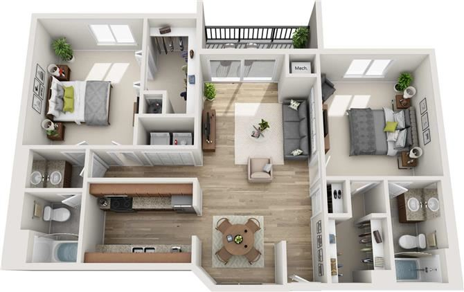 Piedmont Floor Plan at Atler at Brookhaven, Atlanta, Georgia