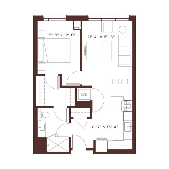 a1 Floor Plan at North+Vine, Illinois
